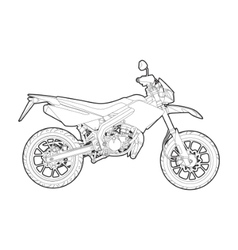 outline motorcycle vector image