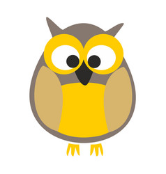 owl isolated on white background vector image