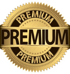 Premium golden label vector image
