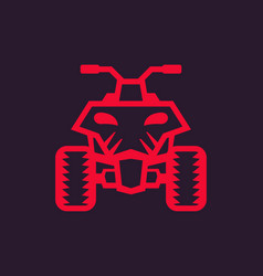 Quad bike atv icon vector
