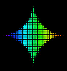 Rainbow pixel sparkle star icon vector