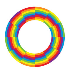 Rainbow round wheel circle vector