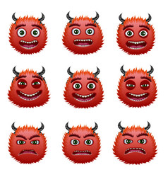 red devils heads vector image