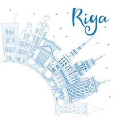 Riga corner cloud outline vector