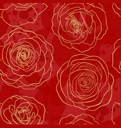 seamless pattern watercolor red textured with vector image