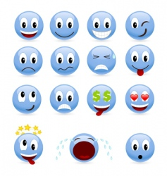 set smiles vector image