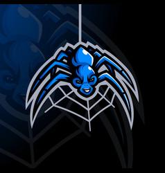 spider cartoon mascot logo vector image