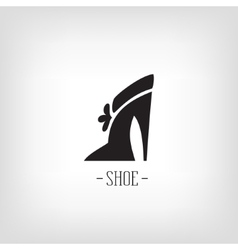 Stylized womens shoes Icon shoe store Logo vector image