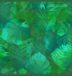 summer exotic floral tropical palm vector image