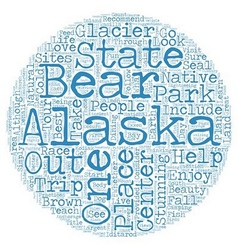 The Best Sites In Alaska text background wordcloud vector image