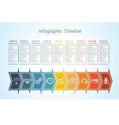 Timeline arrows 9 vector