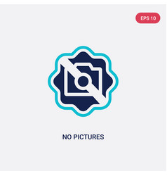 Two color no pictures icon from hotel concept vector