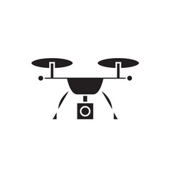 video quadrocopter black concept icon vector image