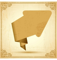 Vintage origami arrow background vector