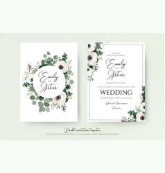 wedding invitation floral invite modern cute card vector image