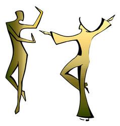 dancing spanish couple vector image