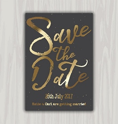 decorative save the date invitation 1309 vector image vector image