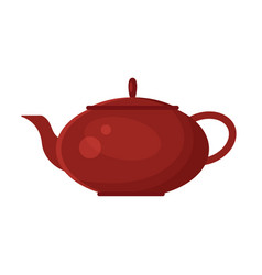 flat teapot icon logo isolated on white vector image