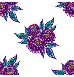 floral hand drawn vintage seamless pattern with vector image