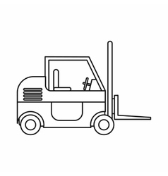 Forklift icon outline style vector image vector image