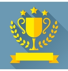 Golden Trophy Cup vector image vector image
