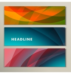 Set abstract backgrounds blue green and yellow vector image