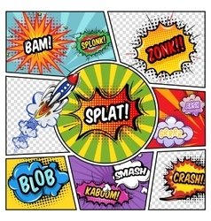 Sound Elements Comic Book vector image