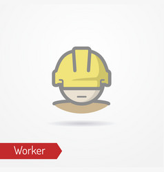 worker face icon vector image vector image