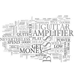 bass amplifier text word cloud concept vector image vector image