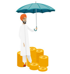 businessman insurance agent with umbrella vector image