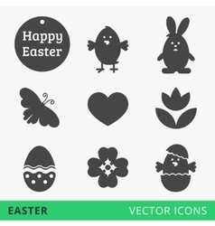 Easter signs web icons vector image vector image