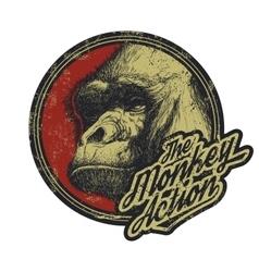 Gorilla Head Logo Mascot Emblem vector image vector image
