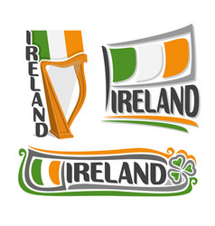 logo for ireland vector image vector image