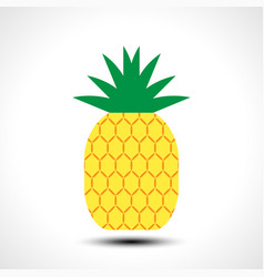pineapple icon symbol design vector image vector image
