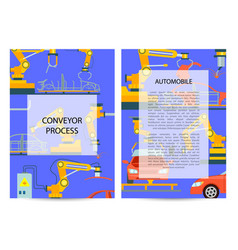 car manufacturing process concept set vector image vector image