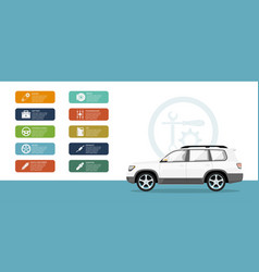 car service and repair infographic vector image vector image