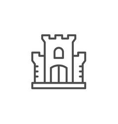castle line icon vector image