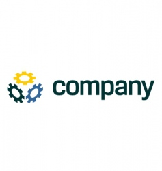 gear logo for service company vector image vector image