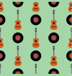 guitar icon stringed musical instrument vector image vector image