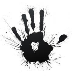 handprint splatter blow vector image