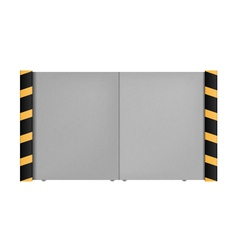 Metal gate on a white background vector image