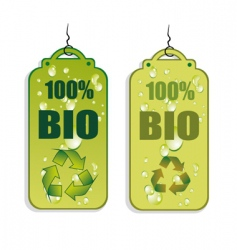 recycling tag icons vector image vector image
