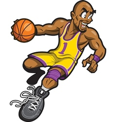 Black Basketball Player vector image vector image
