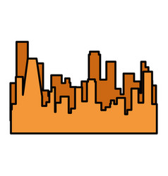 Isolated city view vector