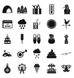 peristyle icons set simple style vector image vector image
