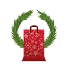 Shopping bag of Merry Christmas design vector image vector image