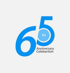 65 th anniversary celebration template design vector