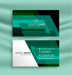 Abstract green business card design template vector