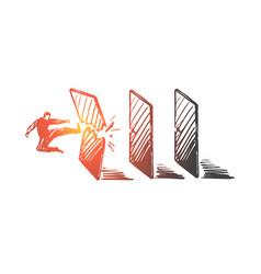 achievement goal startup businessman success vector image