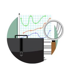 analytics and data analysis vector image